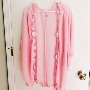 Embroidered cover up/ cardigan